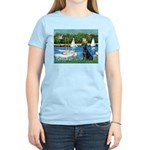 Sailboats & Black Lab Women's Light T-Shirt