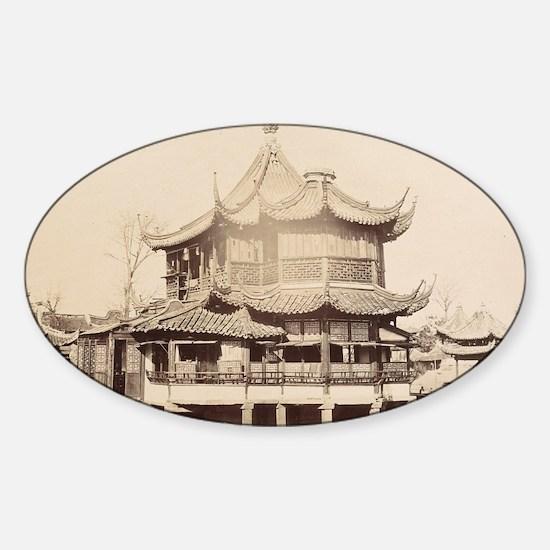 Tea House, Shanghai, 1868 Sticker (Oval)