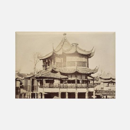 Tea House, Shanghai, 1868 Rectangle Magnet