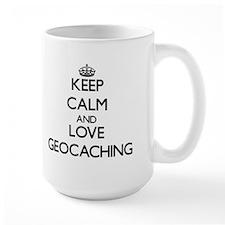 Keep calm and love Geocaching Mugs