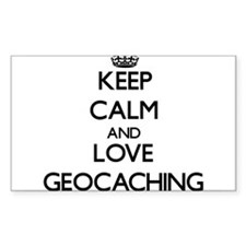 Keep calm and love Geocaching Decal