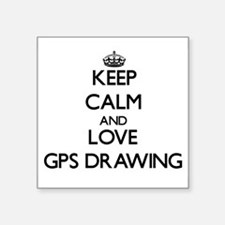 Keep calm and love Gps Drawing Sticker