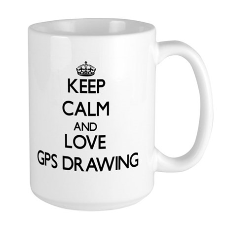 Keep calm and love Gps Drawing Mugs