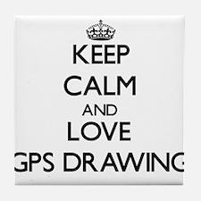 Keep calm and love Gps Drawing Tile Coaster