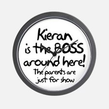Kieran is the Boss Wall Clock