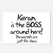Kieran is the Boss Postcards (Package of 8)