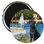 Sailboats & Black Lab Magnet