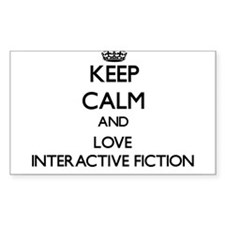 Keep calm and love Interactive Fiction Decal