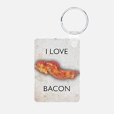 I Love Bacon Keychains