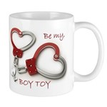 Boy Toy Valentine Heartcuffs Mugs