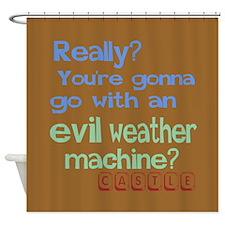 Castle Evil Weather Machine Shower Curtain