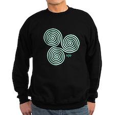 Glowing Green Celtic Triple Sprial Sweatshirt