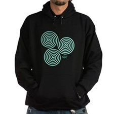 Glowing Green Celtic Triple Sprial Hoodie