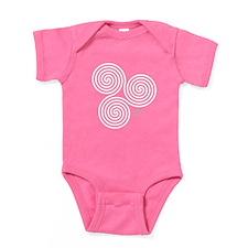 White Celtic Triple Sprial Baby Bodysuit