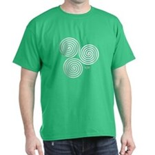 White Celtic Triple Sprial T-Shirt