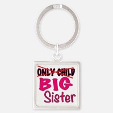 New Big Sister Announcement Square Keychain