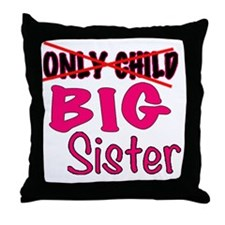 New Big Sister Announcement Throw Pillow
