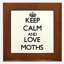 Keep calm and love Moths Framed Tile