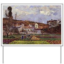 Pissarro - Kitchen Gardens at L'Hermitag Yard Sign