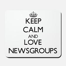 Keep calm and love Newsgroups Mousepad