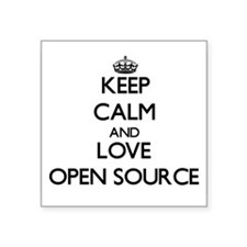 Keep calm and love Open Source Sticker