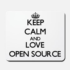 Keep calm and love Open Source Mousepad