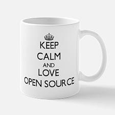 Keep calm and love Open Source Mugs