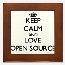 Keep calm and love Open Source Framed Tile