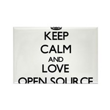 Keep calm and love Open Source Magnets