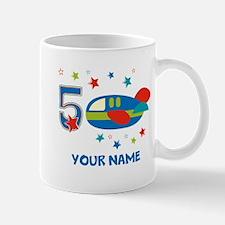 Airplane 5th Birthday Mug