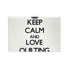Keep calm and love Quilting Magnets