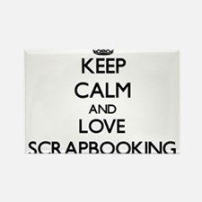 Keep calm and love Scrapbooking Magnets