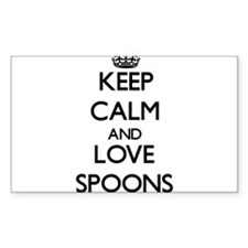Keep calm and love Spoons Bumper Stickers