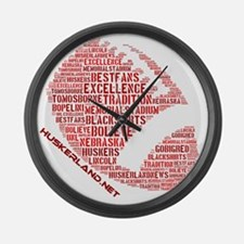 Football Words Large Wall Clock
