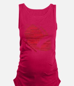 Football Words Maternity Tank Top