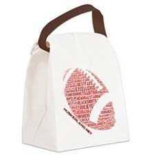 Football Words Canvas Lunch Bag