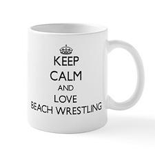 Keep calm and love Beach Wrestling Mugs