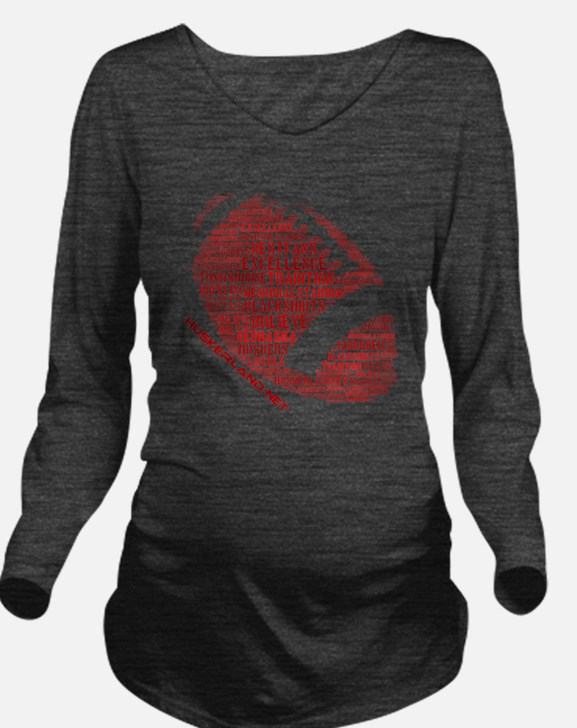 Huskerland Football Long Sleeve Maternity T-Shirt