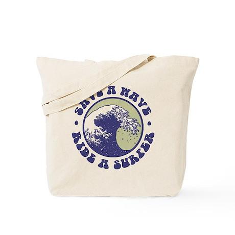 Funny Surfer Tote Bag