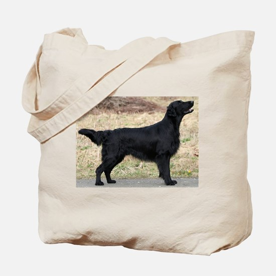 flat coated retriever black full Tote Bag