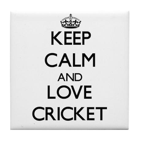 Keep calm and love Cricket Tile Coaster
