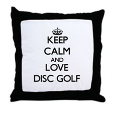 Keep calm and love Disc Golf Throw Pillow