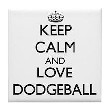 Keep calm and love Dodgeball Tile Coaster