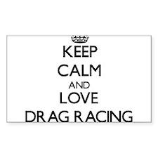 Keep calm and love Drag Racing Decal