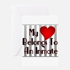 Heart Belongs to Inmate Greeting Cards (Package of