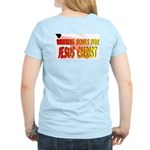 Will Give You Rest Back/Front Women's Pink T-Shirt