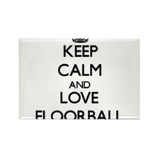 Keep calm and love Floorball Magnets