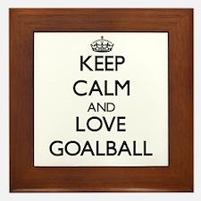 Keep calm and love Goalball Framed Tile