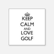 Keep calm and love Golf Sticker