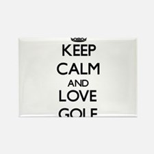 Keep calm and love Golf Magnets